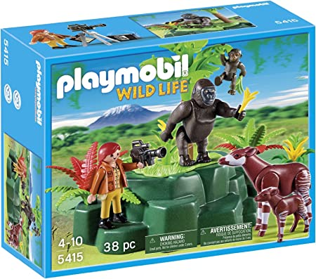 Playmobil Vida Salvaje - Wild Life Gorilas y Okapis con Cámara Playsets de Figuras de jugete (Playmobil 5415)