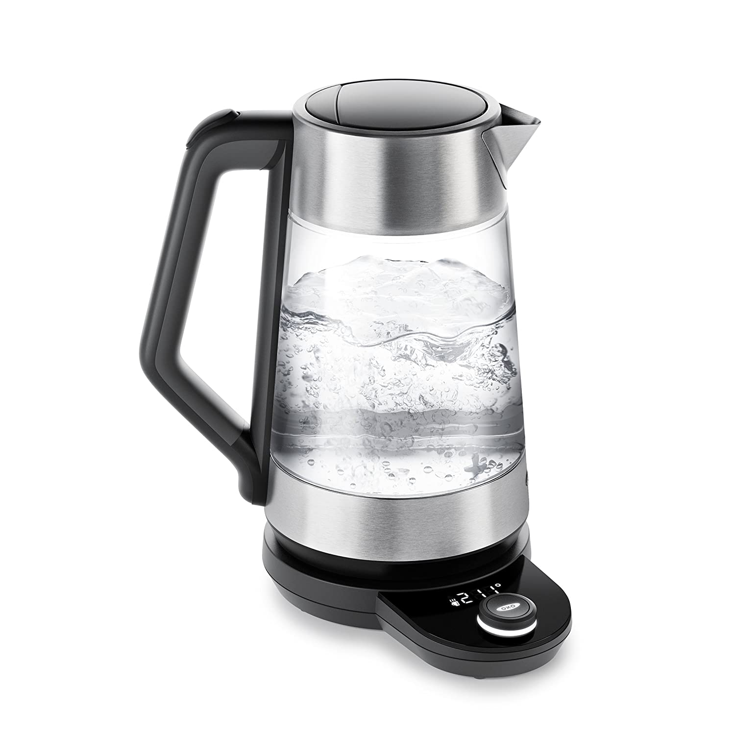 OXO On Cordless Glass Adjustable Temperature Electric Kettle, Stainless Steel 8716900