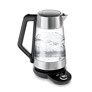 OXO BREW Cordless Glass Electric Kettle, Stainless Steel