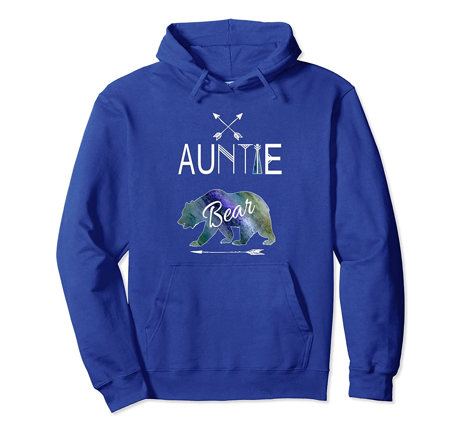Auntie Bear Hoodie Tribal Family Vacation & Camping-AZP