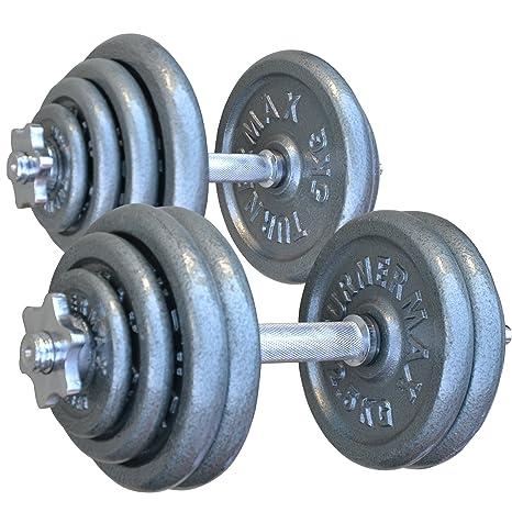TurnerMAX–Juego de pesas para entrenamiento, para culturismo, fitness