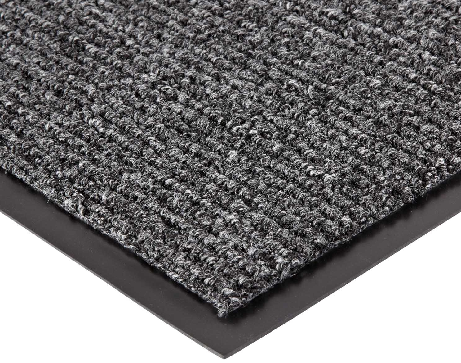 Notrax 132 Estes Entrance Mat, for Main Entranceways and Heavy Traffic Areas, 4' Width x 6' Length x 3/8'' Thickness, Charcoal