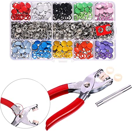 Press Rivets 9.5mm 100sets//Lot Clamps Prong Snap Buttons Metal Pliers Tool