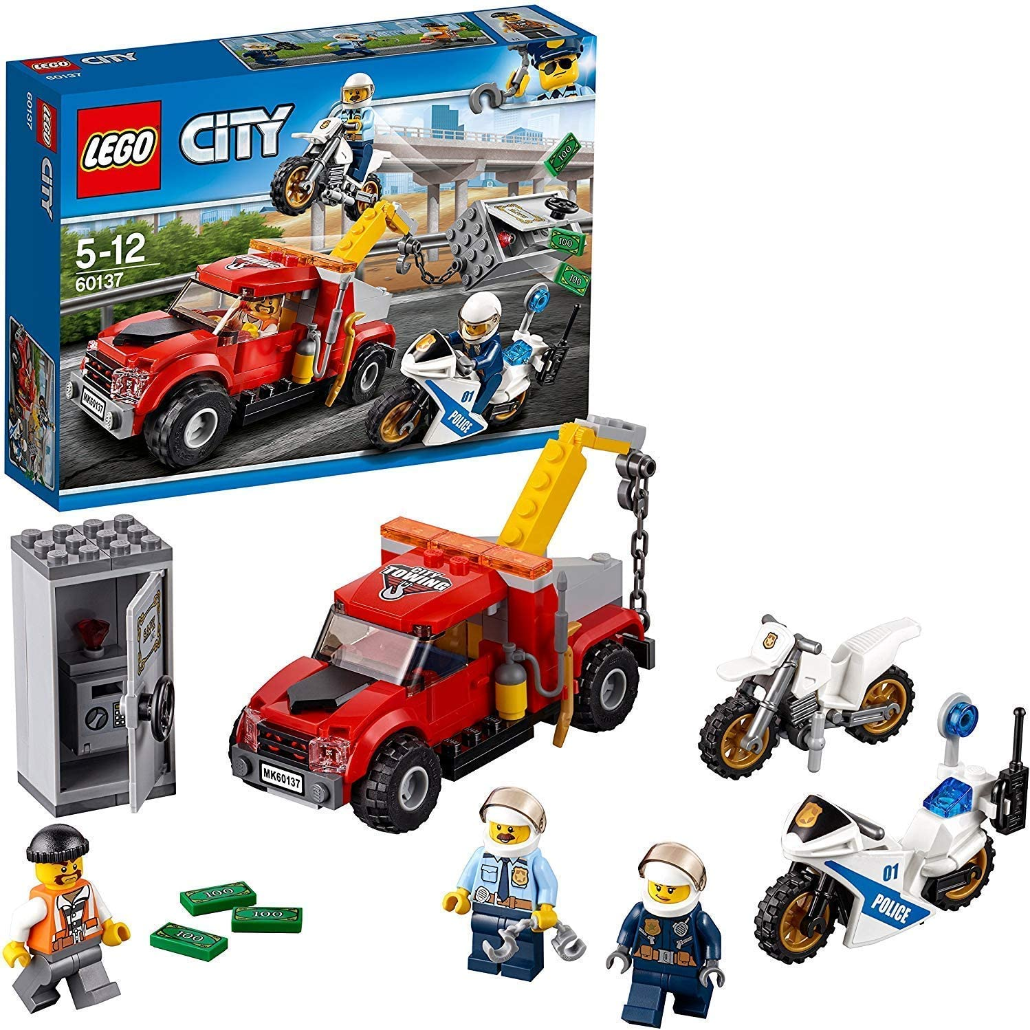 LEGO City Police Tow Truck Trouble Building Toy