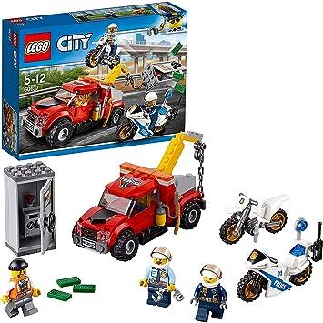 LEGO City Police - Camión Grúa en Problemas, Set de Construcción ...