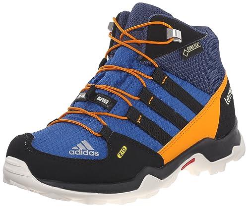 bc10de8d Adidas Terrex Mid Goretex Kids Hiking Shoe 6 EQT Blue-Black-EQT Orange