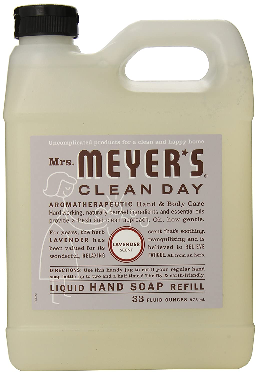 Mrs. Meyer's Clean Day Liquid Hand Soap Refill - Lavender - 33 Ounce Meyer Manufacturing