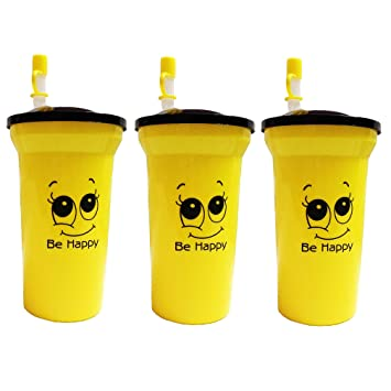 Buy Kieana Bottle Sippers With Straw For Kids Birthday Return Gifts Pack Of 2 Yellow Online At Low Prices In India