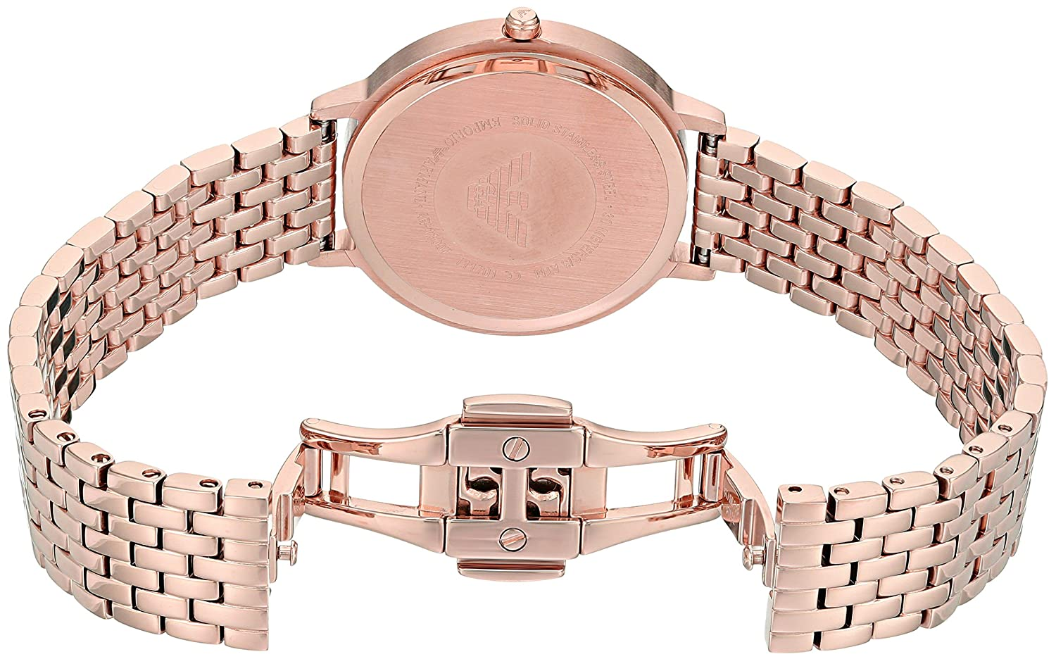d75ad74ac Emporio Armani Women's 'Kappa' Quartz Stainless-Steel-Plated Casual Watch,  Color:Rose Gold-Toned (Model: AR11006): Amazon.ae