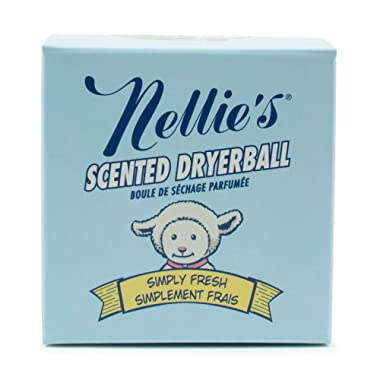 Nellie's Scented Wool Dryerball - Simply Fresh Scented - Made with 100% Pure New Zealand Wool and Lasts Approximately 50 Drying Loads - Silent in Your Dryer!