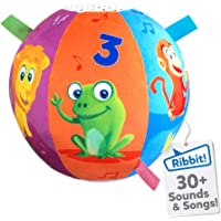 Move2Play Interactive Animal Sounds Crawl Ball Toy for Babies and Toddlers, Baby Ball for Ages 6 Months to 1, 2 Year Old…