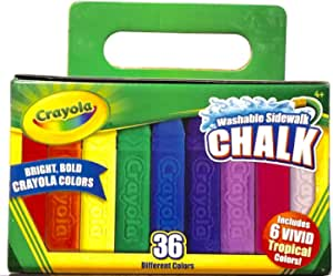 amazon com crayola 36 count washable sidewalk chalk
