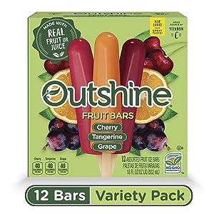 Outshine, Cherry, Tangerine & Grape Frozen Fruit Bars, 12 Count (Frozen)