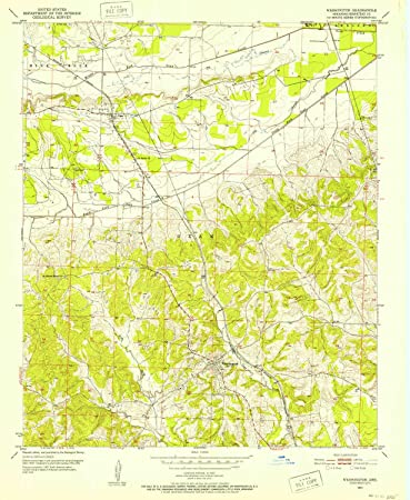 Amazon.com : YellowMaps Washington AR topo map, 1:24000 Scale, 7.5 X ...