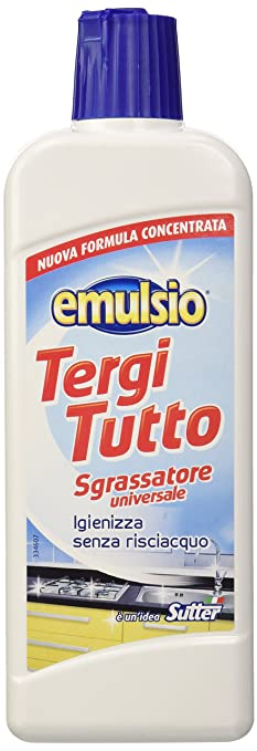 11 opinioni per Emulsio 0262813 Tergitutto Sgrassatore Liquido Universale, Concentrato, 375 ml