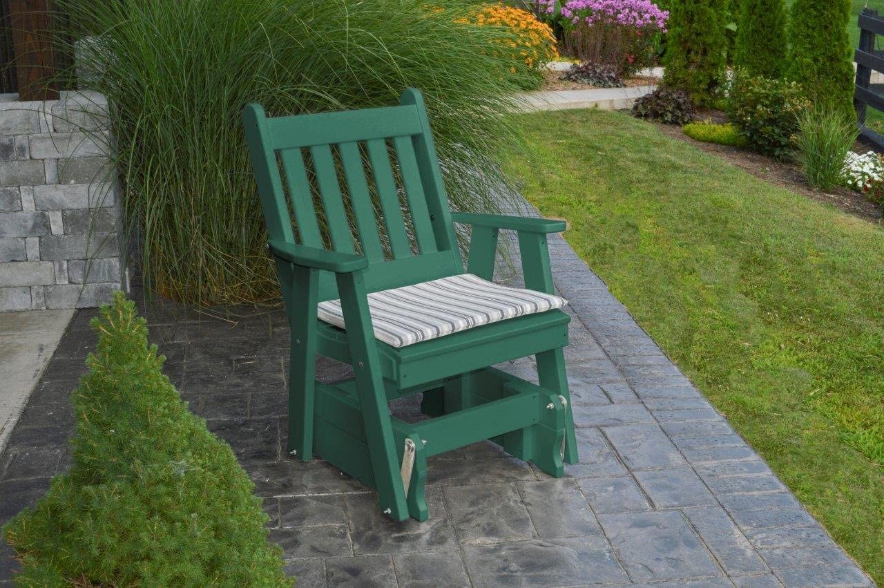 Outdoor Poly Traditional English Gliding Chair – Tudor Brown