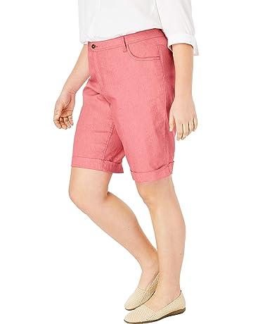967e1557dad Woman Within Women s Plus Size Stretch Jean Bermuda Short