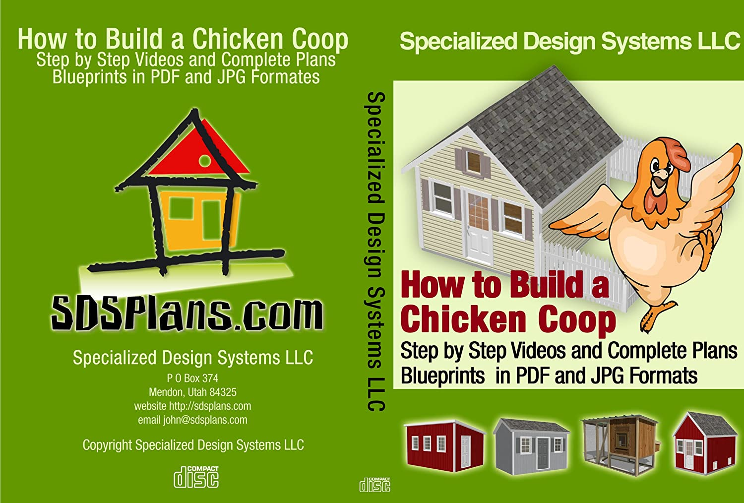 How to build a chicken coop cd with plans and blueprints how to build a chicken coop cd with plans and blueprints woodworking project plans amazon malvernweather Choice Image