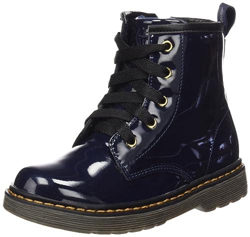 XTI Botin Niña Charol Navy, Zapatos de Cordones Derby para Niñas: Amazon.es: Zapatos y complementos