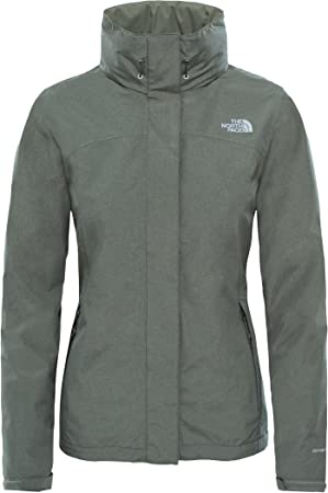 The North Face Sangro Chaqueta, Mujer, Deep Lichen Green Heather, S: Amazon.es: Deportes y aire libre