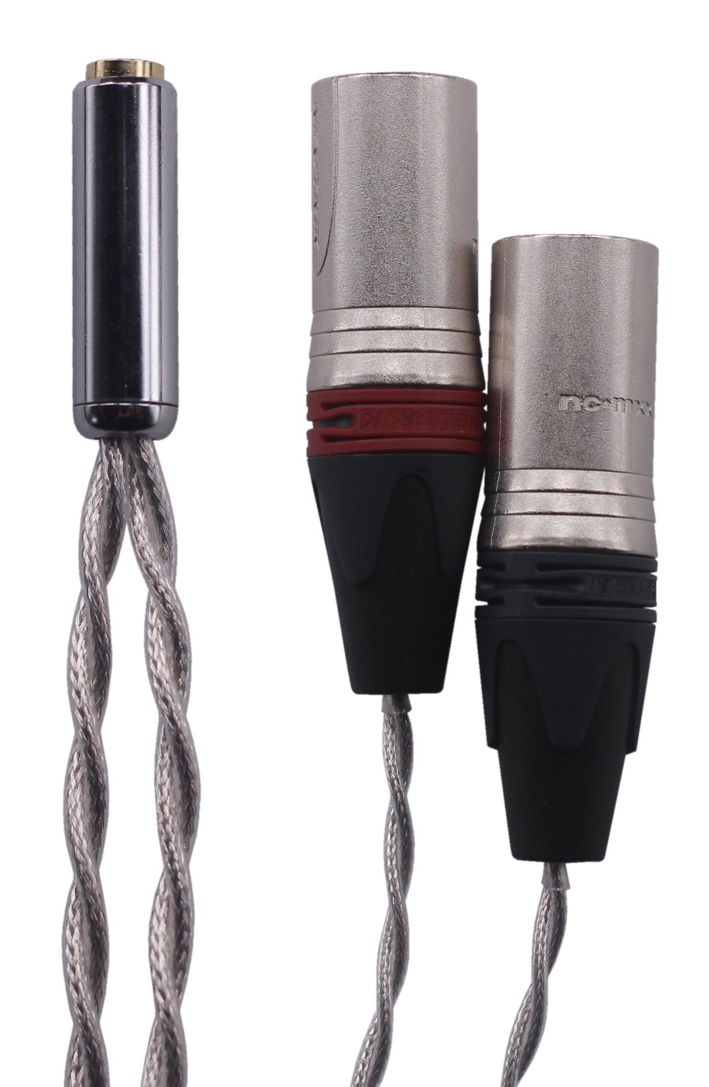 KK Cable 2X-EN Dual 3pin XLR Balanced Male TO 2.5MM Trrs Balanced Female Cable, Audio Adapter. 2X-EN