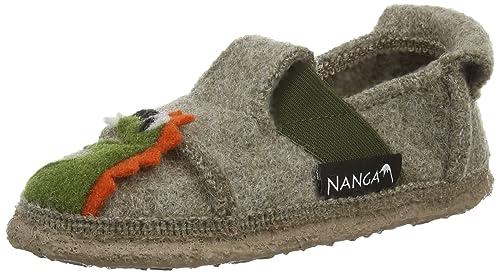 NangaDrache - Pantuflas, Niños, Beige (Natur 85), 24