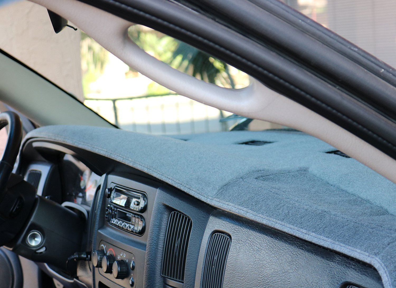 Angry Elephant Dodge Ram Cinder Carpet Dashboard Cover- 2009 1500, 2010 1500/2500/3500, 2011-2018 All Models with 1 Glove Box. Custom Fit Dash Cover, Easy Installation