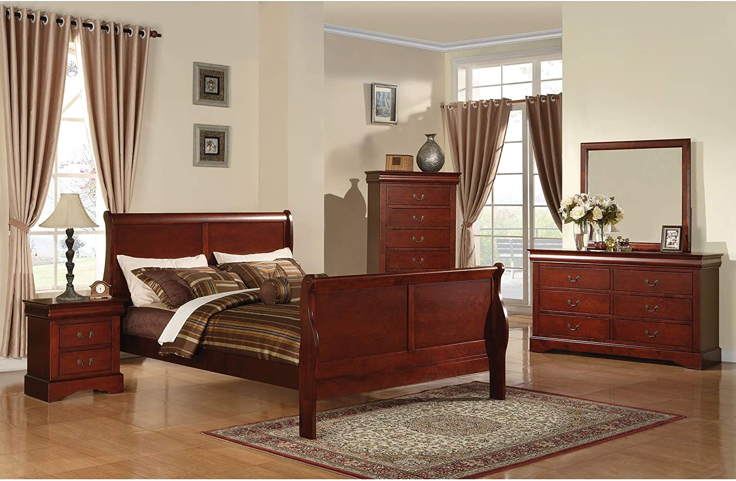 ACME Louis Philippe Cherry Full Bed