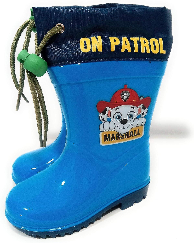 Bottes de Pluie Paw Patrol Chase et Marshall avec Semelle antid/érapante et col r/églable Bottes de Pluie Paw Patrol pour Enfants
