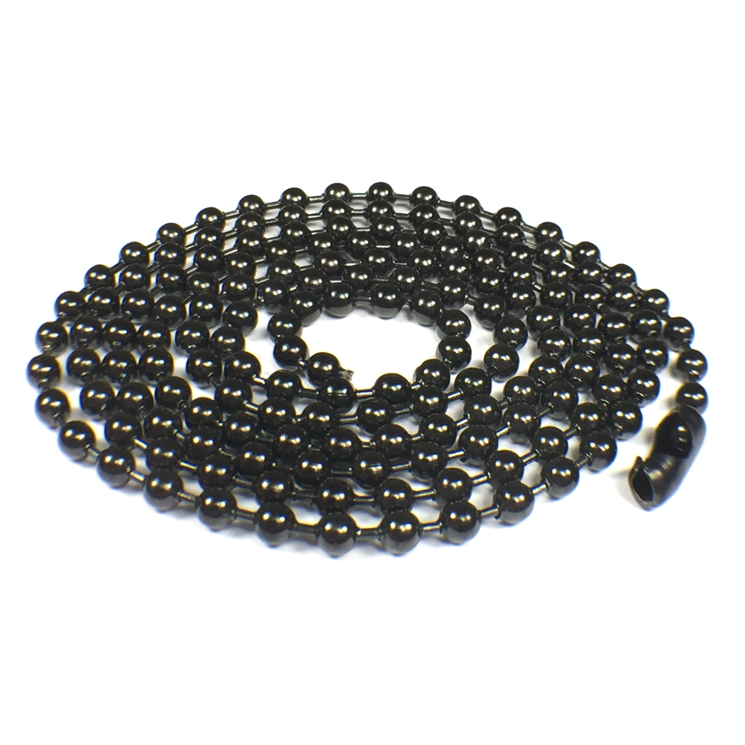 SANDRA Mens Jewelry 4.5 mm 18-40 Silver Stainless Steel Bead Necklace Chain
