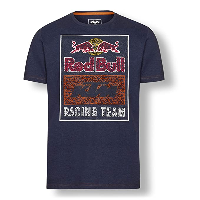 Red Bull KTM Mosaic Graphic Camiseta, Azul Hombre XX-Large ...
