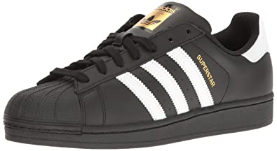 adidas Originals Men\u0027s Superstar Foundation Casual Sneaker, Black/White/Black,  ...