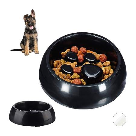 Relaxdays 2X Anti Schling Napf, Futternapf für Hund & Katze, Langsames Fressen, 300 ml Fressnapf, spülmaschinenfest