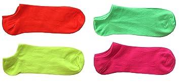 4 pares Calcetines Calcetines Alla modo colores neón para mujer modelo Fantasmino Pariscarpa – Calcetines sport