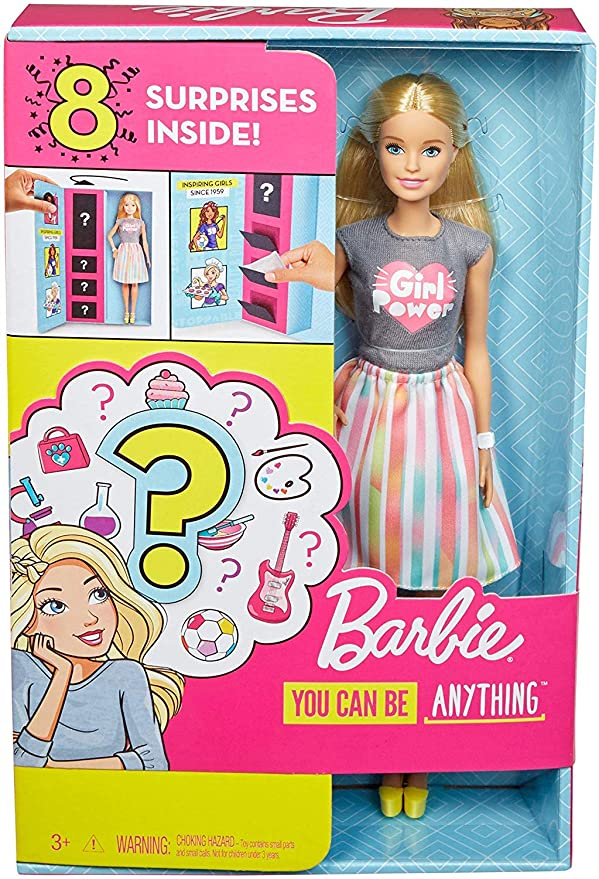 """NEW 2019 Barbie Fashionista Doll /""""Make History/"""" Pink Blue Yellow Top ~ Clothing"""