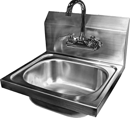 Amazoncom Ace Wall Mount Stainless Steel Hand Sink With No Lead