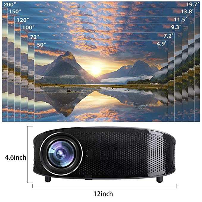 Proyector de vídeo DHAWS 3800LM 1080P Full HD HDMI para Tiendas ...