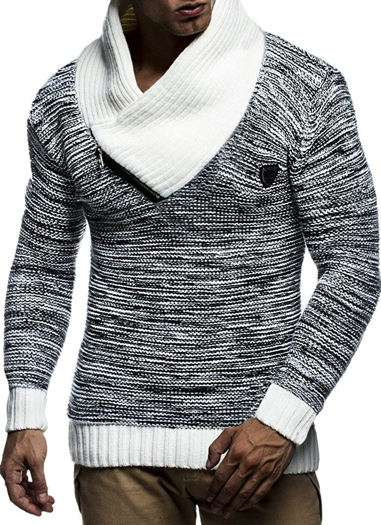 Leif Nelson Men's Knitted Pullover Pullover LN7060