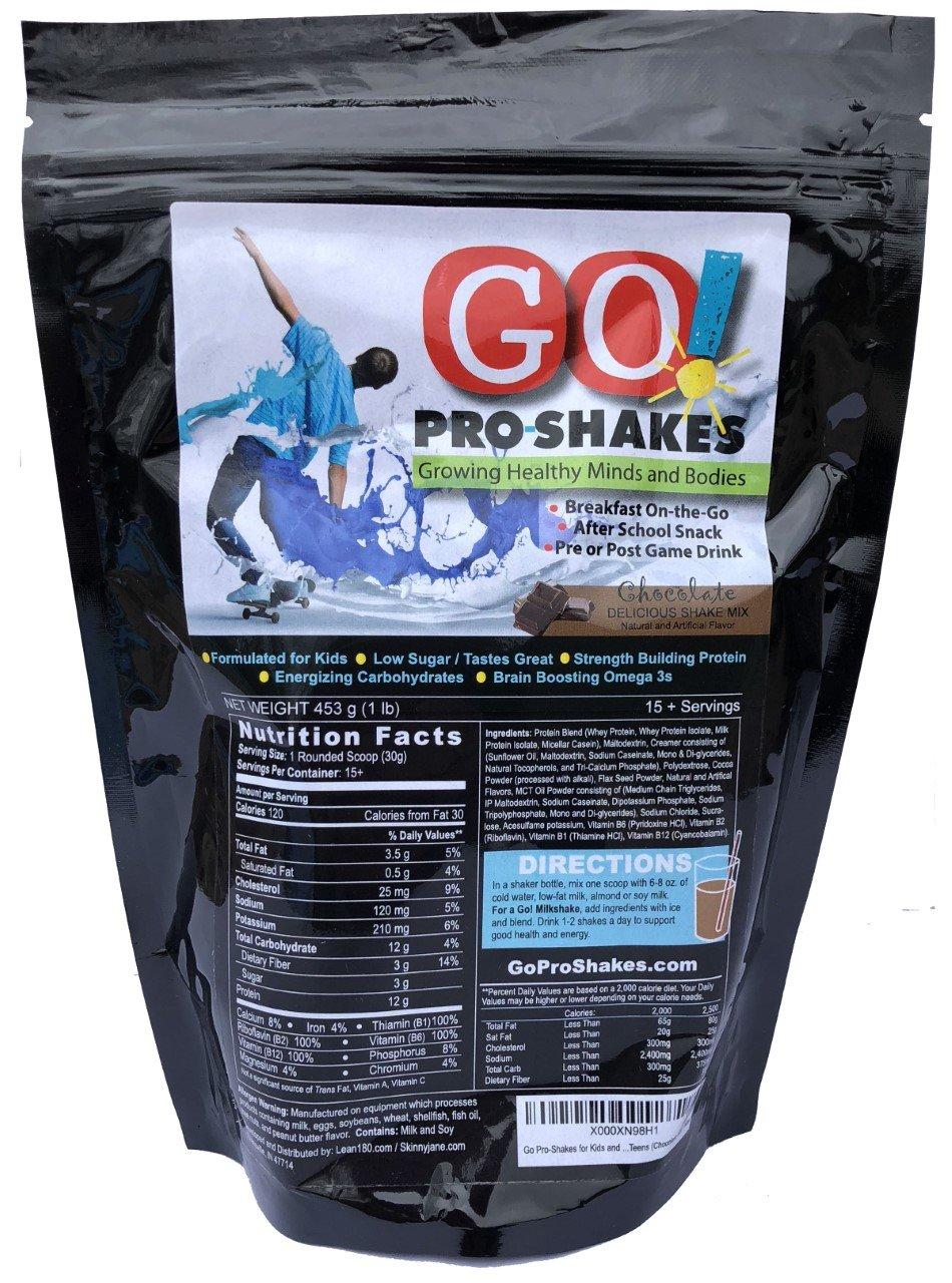 Sale! Best Tasting Protein Nutritional Shake for Kids and Teens - Healthy Energizing Snack Smoothie - Milkshake Taste - Low Sugar - Fiber - B Vitamins - Dietitian Approved (Chocolate)