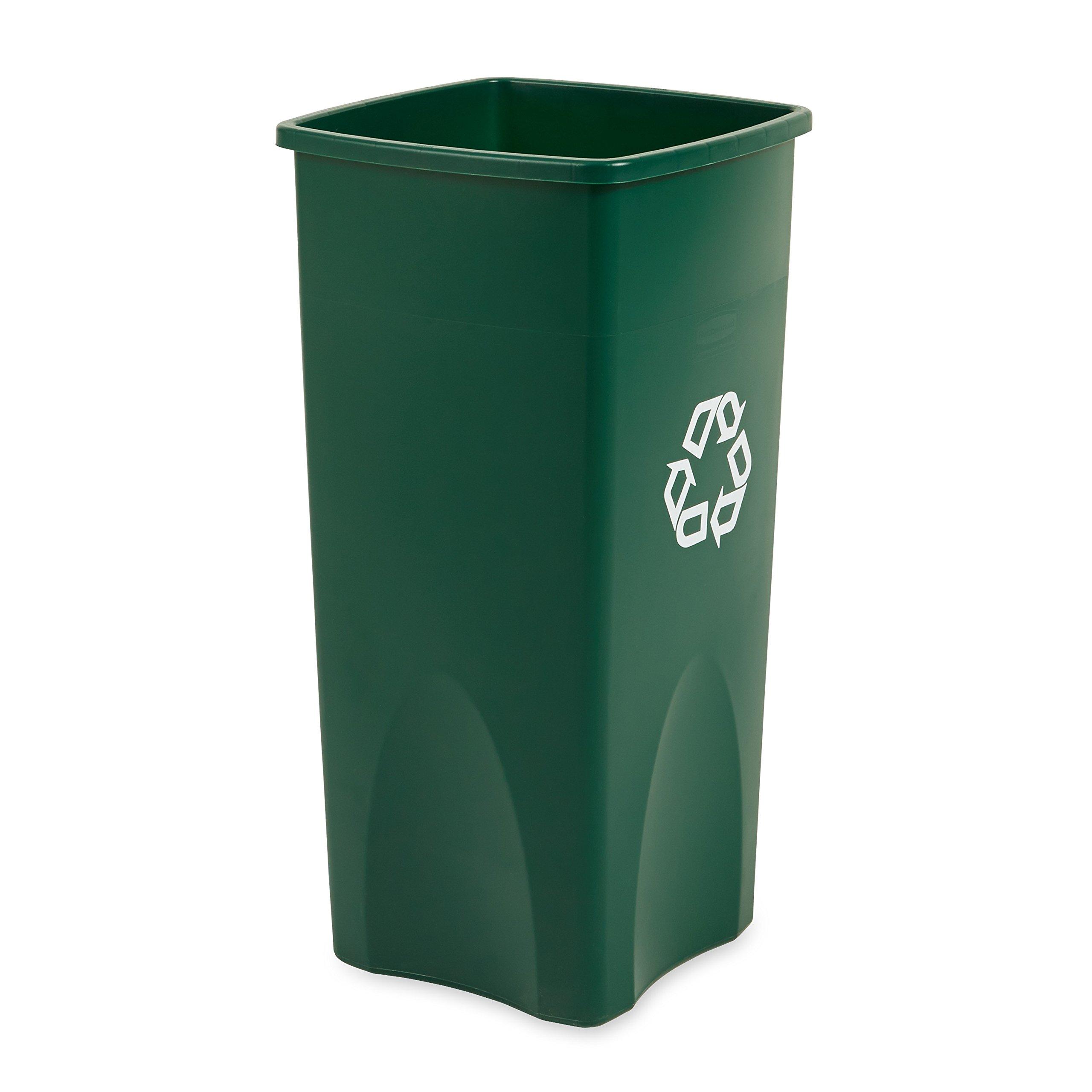 Rubbermaid Commercial Untouchable Recycling Bin, 23 Gallon, Green, FG356907GRN