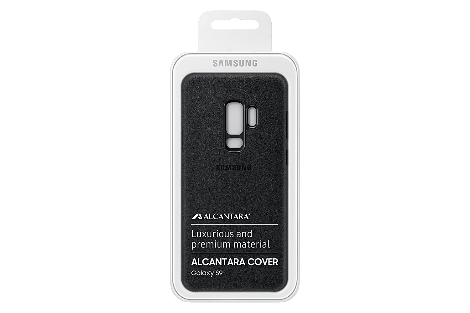 Official OEM Samsung Galaxy S9+ Alcantara Cover (Black)