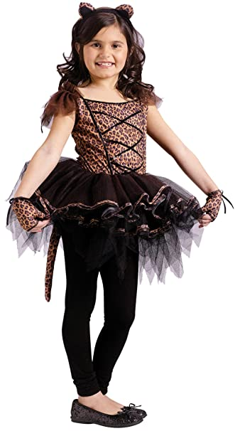 a33e1245ab2f Amazon.com  Girls Ballerina Leopard Kids Child Fancy Dress Party ...