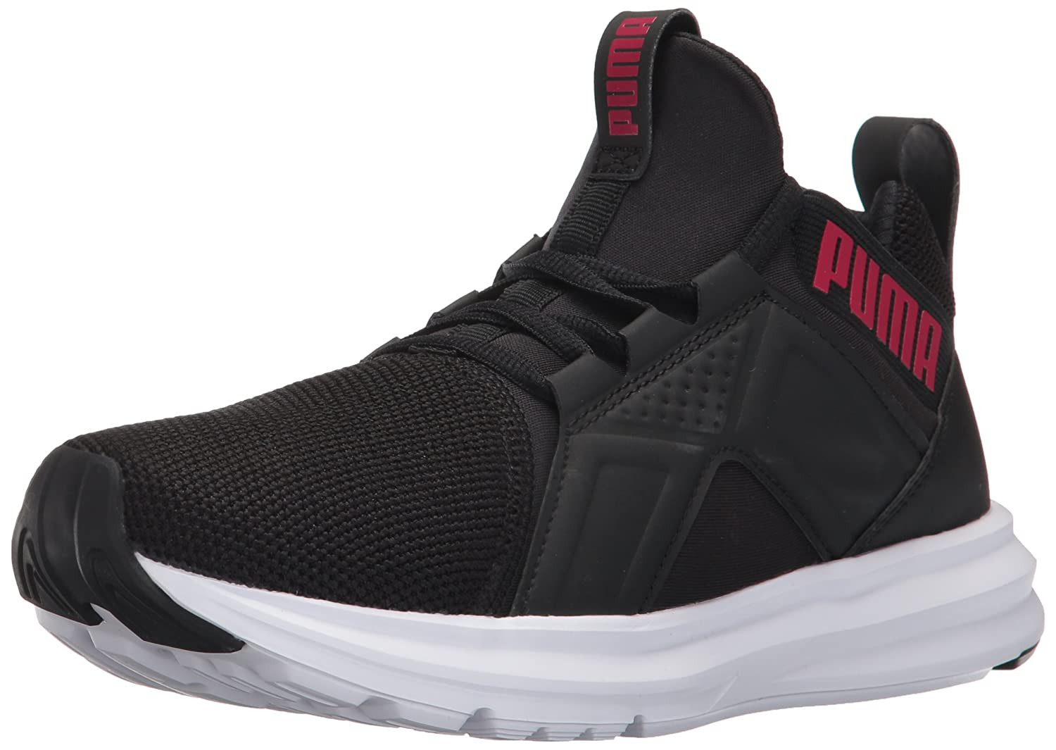 PUMA Women's Enzo Mesh Wn Sneaker B01N9I4FC1 7.5 M US|Puma Black-love Potion