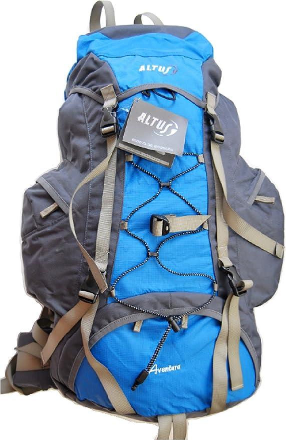 ALTUS Aventura – Mochila 65 litros Rojo o Azul Senderismo Mochila * Nuevo (España), Azul: Amazon.es: Deportes y aire libre