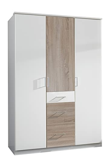 Wimex Kleiderschrank/Drehtürenschrank Click, 3 Türen, 2 große, 1 ...