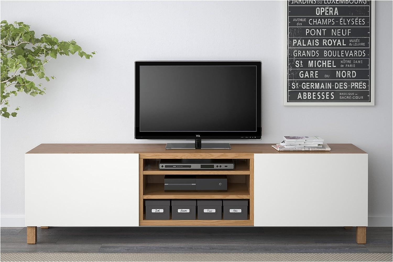 IKEA BESTA - Mueble TV con efectos cajones de roble / blanco lappviken: Amazon.es: Hogar