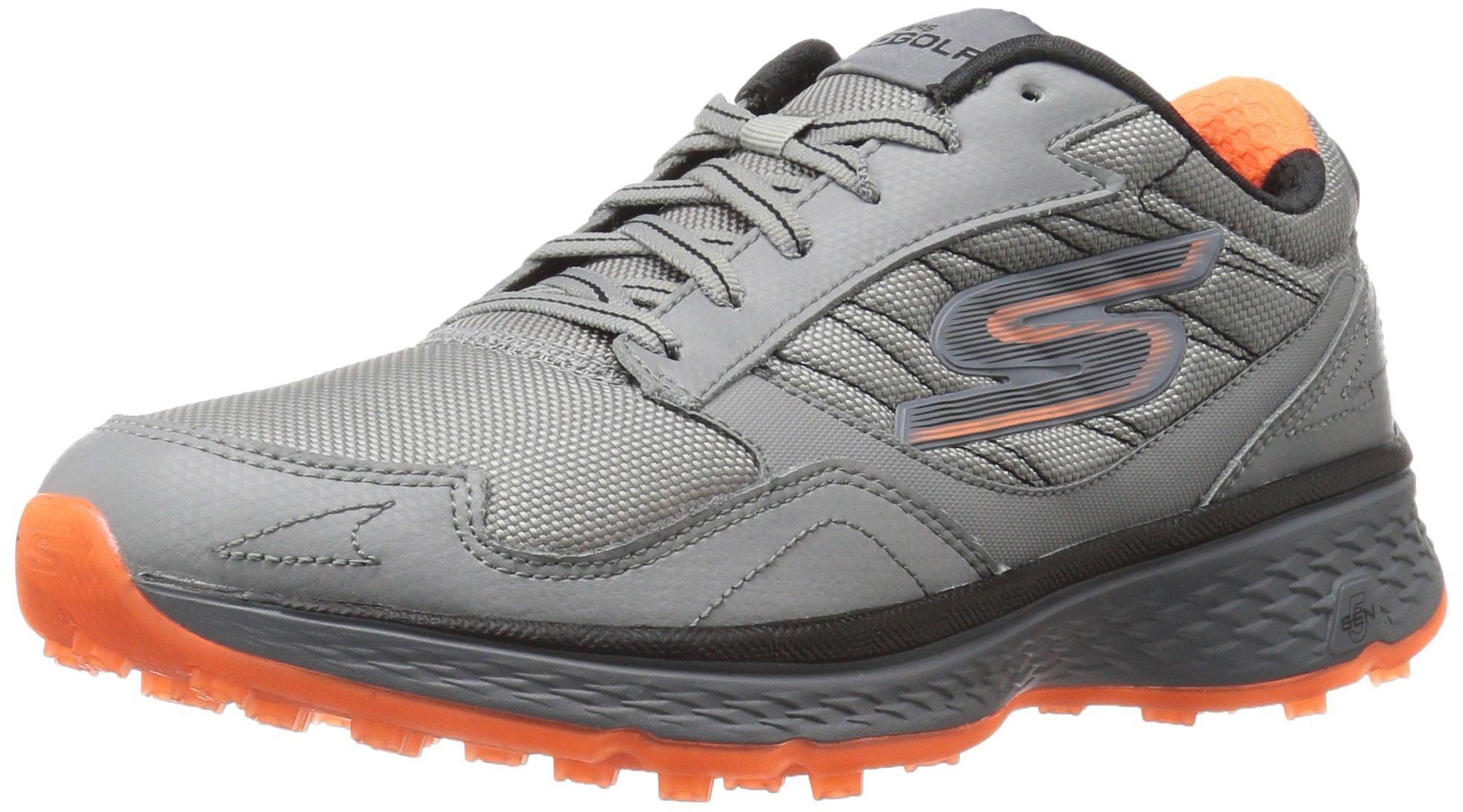 Skechers Golf Men's Go Golf Fairway Golf Shoe, Gray/Orange, 7.5 M US