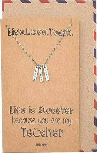Preschool teacher gift ideas Best teacher Teacher thank you gifts Gift for nursery teacher Dainty heart necklace Simple necklace