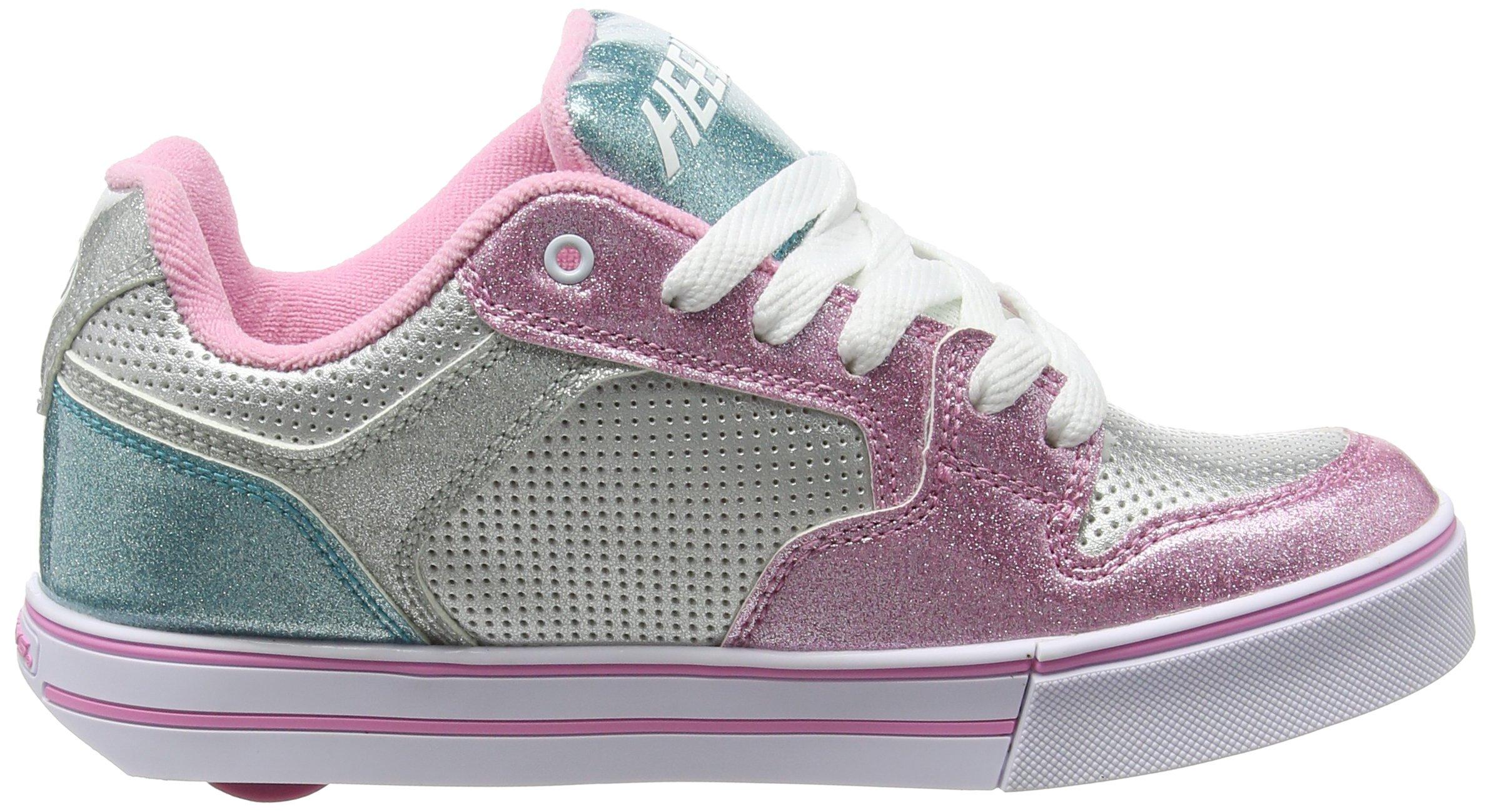 Heelys Girl's Motion Plus (Little Kid/Big Kid/Adult) Silver/Pink/Blue/Glitter Shoe by Heelys (Image #6)