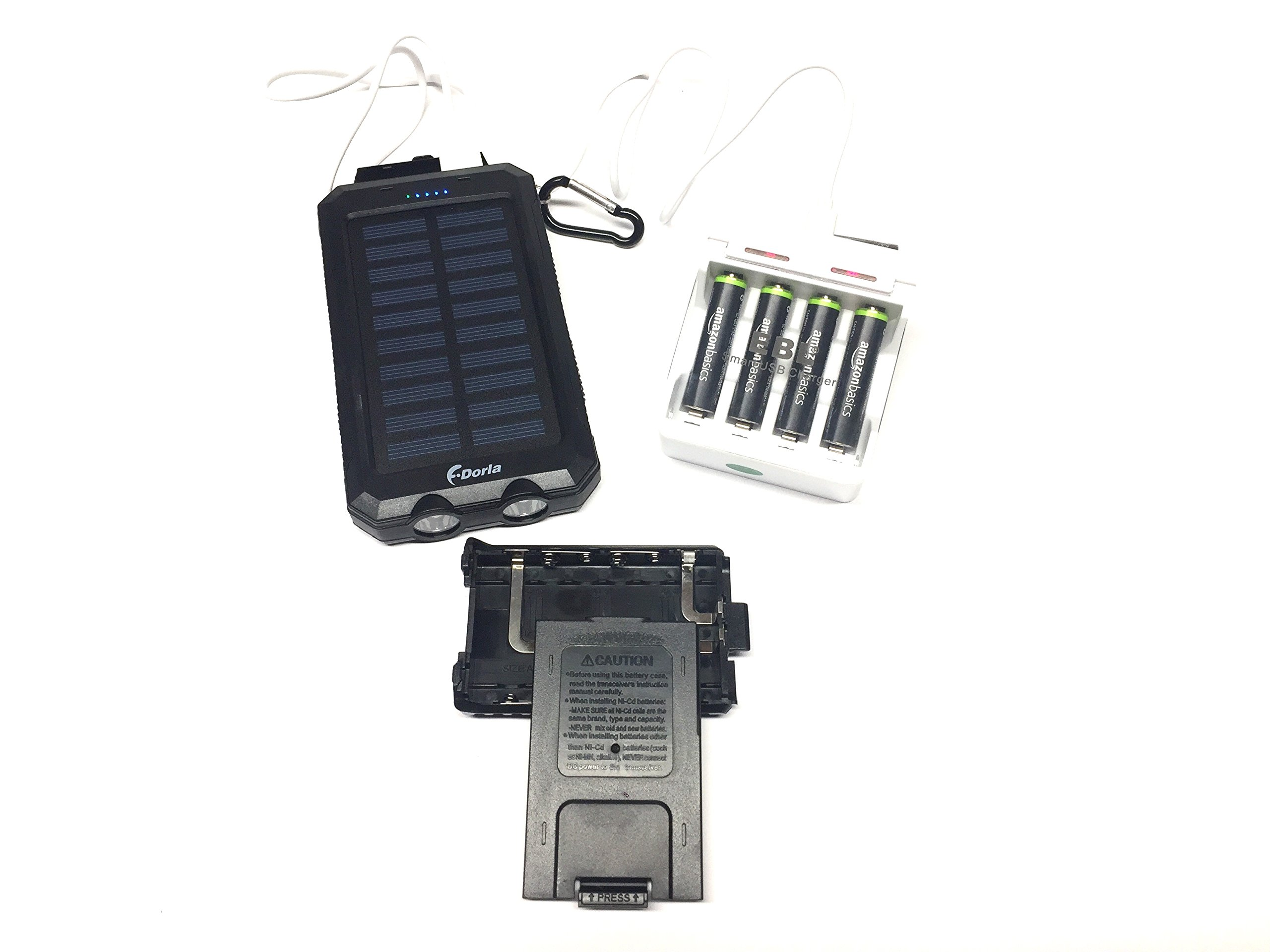 World Gone Silent Compatible Solar Power kit Replacement for Baofeng Model radios